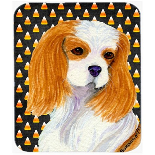 Carolines Treasures SS4320MP Cavalier Spaniel Candy Corn Halloween Portrait Mouse Pad Hot Pad or Trivet