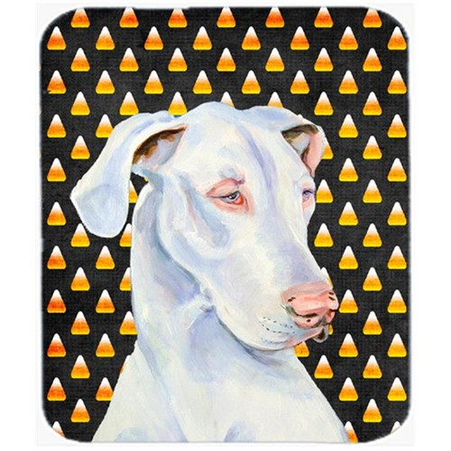 Carolines Treasures LH9052MP Great Dane Candy Corn Halloween Portrait Mouse Pad Hot Pad or Trivet