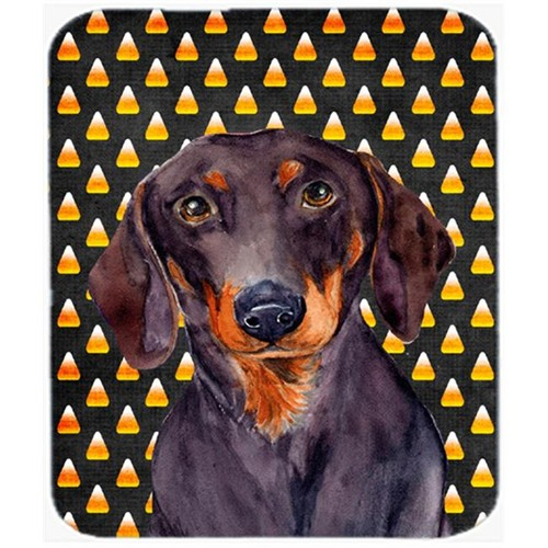 Carolines Treasures LH9054MP Dachshund Candy Corn Halloween Portrait Mouse Pad Hot Pad or Trivet