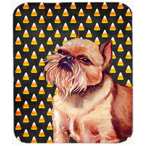 Carolines Treasures LH9055MP Brussels Griffon Candy Corn Halloween Portrait Mouse Pad Hot Pad or Trivet