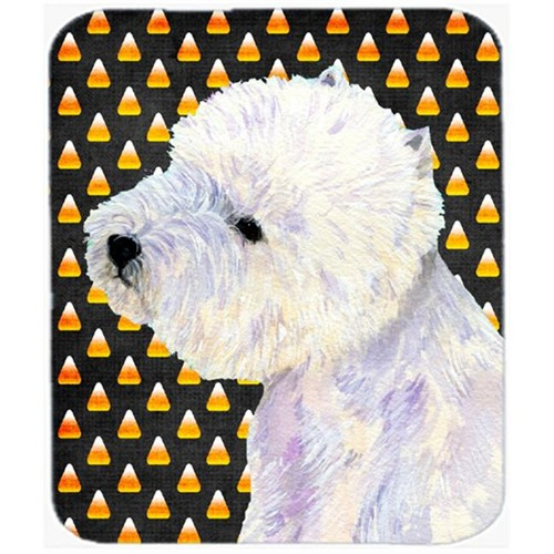 Carolines Treasures LH9056MP Westie Candy Corn Halloween Portrait Mouse Pad Hot Pad or Trivet