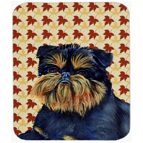 Carolines Treasures LH9118MP Brussels Griffon Fall Leaves Portrait Mouse Pad Hot Pad or Trivet