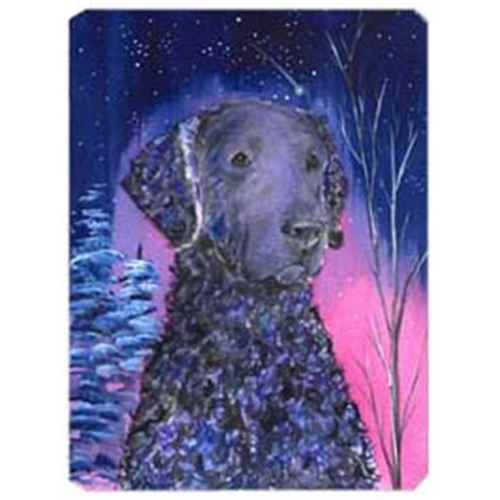 Carolines Treasures SS8354MP Starry Night Curly Coated Retriever Mouse Pad