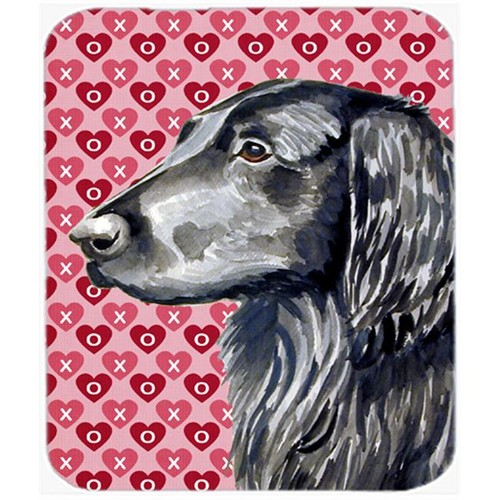 Carolines Treasures LH9141MP Flat Coated Retriever Hearts Love Valentines Day Mouse Pad Hot Pad or Trivet