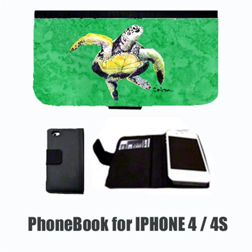 Carolines Treasures 8671-NBIP4 Turtle Dancing Cell Phonebook Cell Phone case Cover for IPHONE 4 or 4S