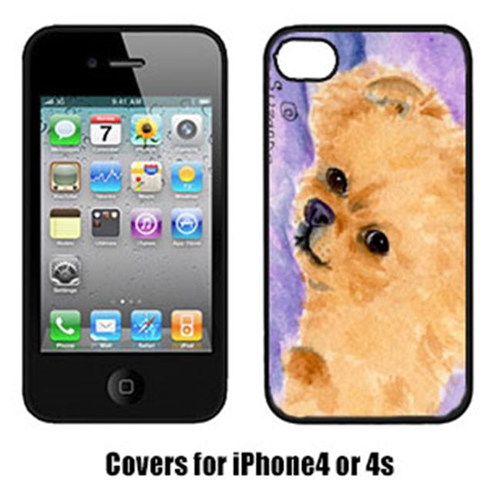 Carolines Treasures SS8834IP4 Pomeranian Iphone 4 Cover