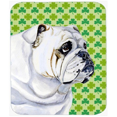 Carolines Treasures LH9184MP Bulldog English St. Patricks Day Shamrock Mouse Pad Hot Pad or Trivet