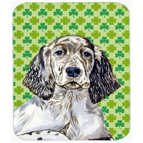 Carolines Treasures LH9187MP English Setter St. Patricks Day Shamrock Portrait Mouse Pad Hot Pad or Trivet