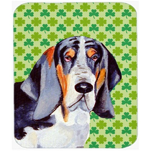 Carolines Treasures LH9192MP Basset Hound St. Patricks Day Shamrock Portrait Mouse Pad Hot Pad or Trivet