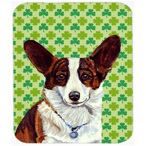 Carolines Treasures LH9198MP Corgi St. Patricks Day Shamrock Portrait Mouse Pad Hot Pad or Trivet