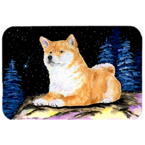 Carolines Treasures SS8445MP Starry Night Shiba Inu Mouse Pad