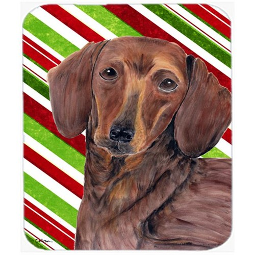Carolines Treasures SC9328MP Dachshund Candy Cane Holiday Christmas Mouse Pad Hot Pad or Trivet