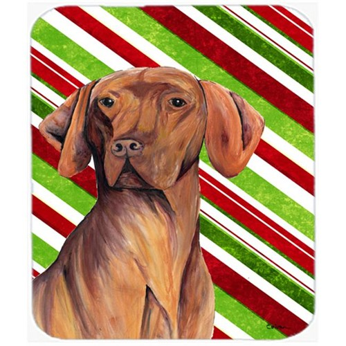 Carolines Treasures SC9338MP Vizsla Candy Cane Holiday Christmas Mouse Pad Hot Pad or Trivet
