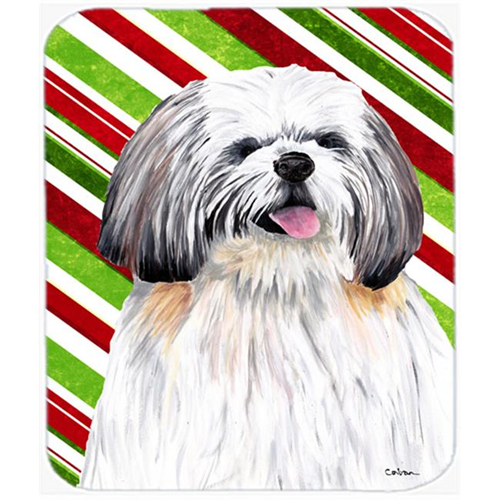 Carolines Treasures SC9343MP Shih Tzu Candy Cane Holiday Christmas Mouse Pad Hot Pad or Trivet