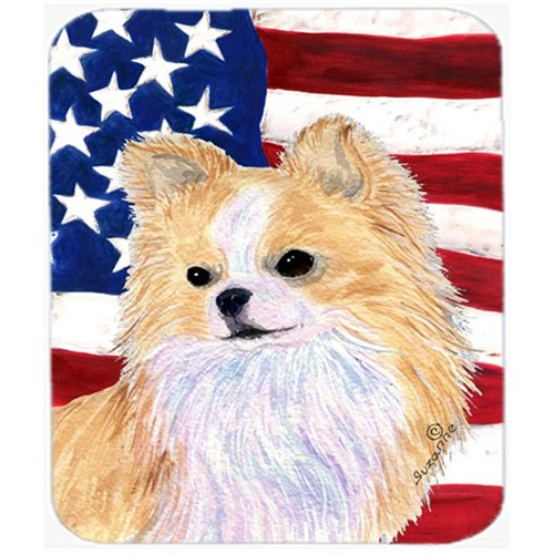 Carolines Treasures SS4229MP Usa American Flag With Chihuahua Mouse Pad Hot Pad or Trivet