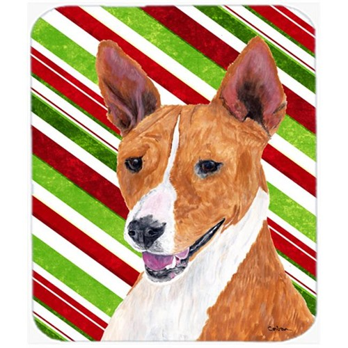 Carolines Treasures SC9347MP Basenji Candy Cane Holiday Christmas Mouse Pad Hot Pad or Trivet