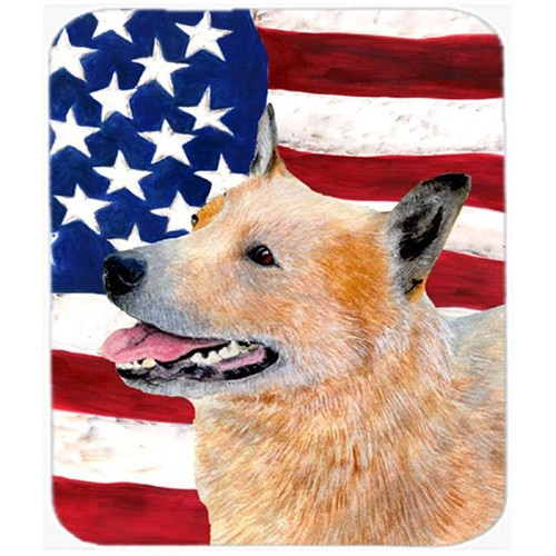 Carolines Treasures SS4251MP Usa American Flag With Australian Cattle Dog Mouse Pad Hot Pad Or Trivet