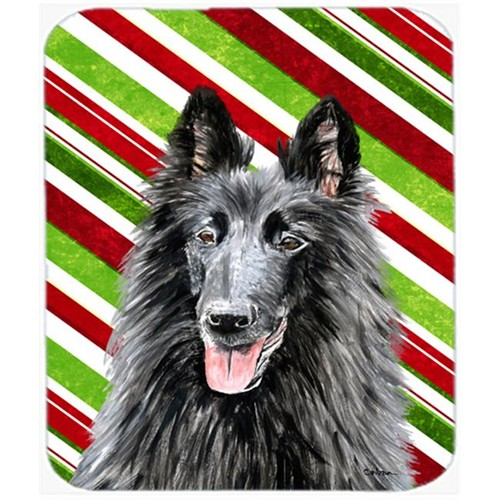 Carolines Treasures SC9358MP Belgian Sheepdog Candy Cane Holiday Christmas Mouse Pad Hot Pad or Trivet