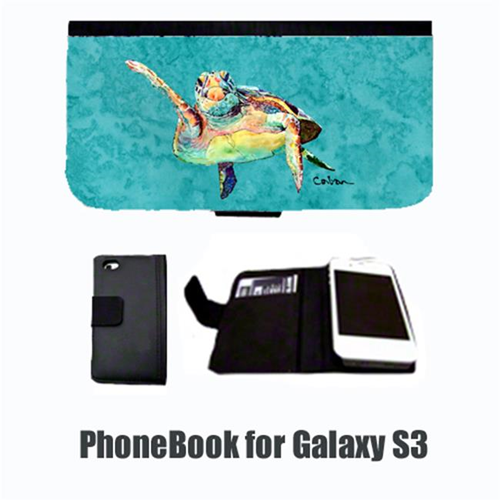 Carolines Treasures 8672-NBGALAXYS3 Turtle Hi Five Cell Phonebook Cell Phone case Cover for GALAXY S3