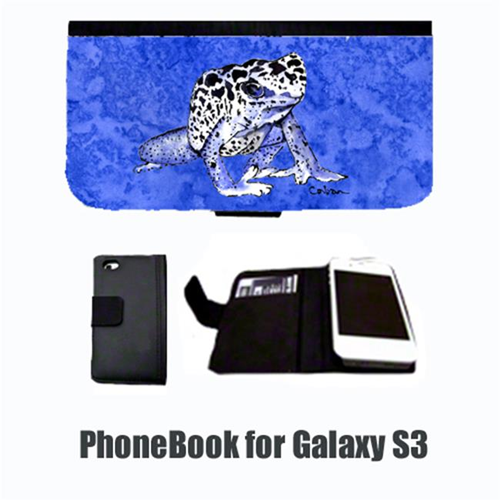 Carolines Treasures 8687-NBGALAXYS3 Frog Cell Phonebook Cell Phone case Cover for GALAXY S3