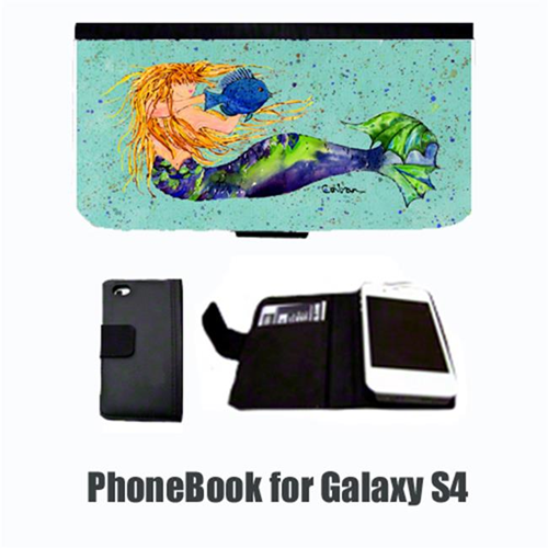Carolines Treasures 8336-NBGALAXYS4 Mermaid Blonde Mermaid Cell Phonebook Cell Phone case Cover for GALAXY 4S