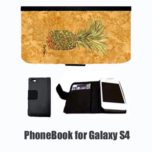 Carolines Treasures 8654-NBGALAXYS4 Pineapple Cell Phonebook Cell Phone case Cover for GALAXY 4S