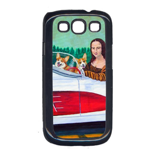 Carolines Treasures 7284GALAXYSIII Mona Lisa With Corgi Cell Phone Cover For Galaxy S111