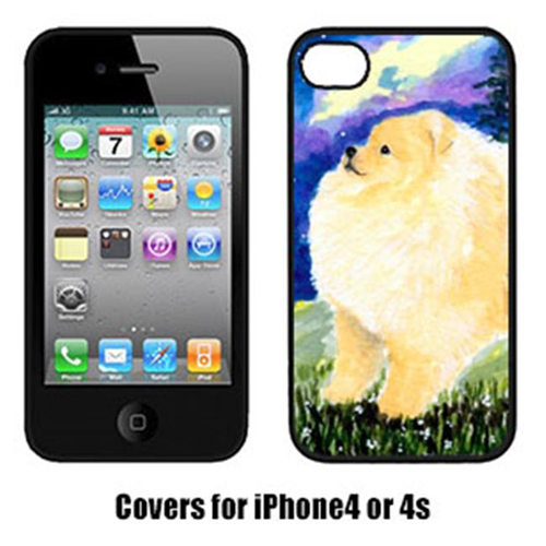 Carolines Treasures SS8998IP4 Pomeranian Cell Phone Cover Iphone4