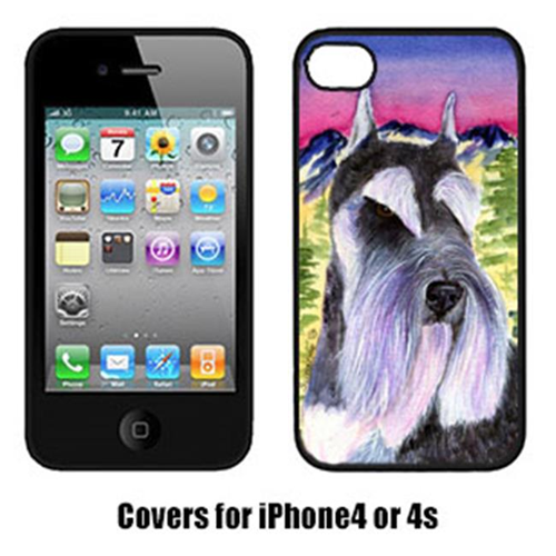 Carolines Treasures SS8340IP4 Schnauzer Cell Phone cover IPhone 4