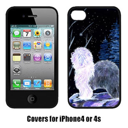 Carolines Treasures SS8401IP4 Starry Night Old English Sheepdog Cell Phone Cover Iphone4
