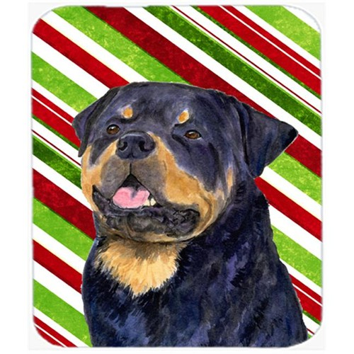Carolines Treasures SS4593MP Rottweiler Candy Cane Holiday Christmas Mouse Pad Hot Pad Or Trivet