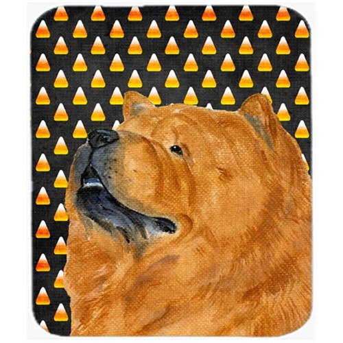 Carolines Treasures SS4295MP Chow Chow Candy Corn Halloween Portrait Mouse Pad Hot Pad Or Trivet