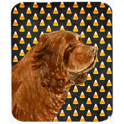 Carolines Treasures SS4303MP Sussex Spaniel Candy Corn Halloween Portrait Mouse Pad Hot Pad Or Trivet