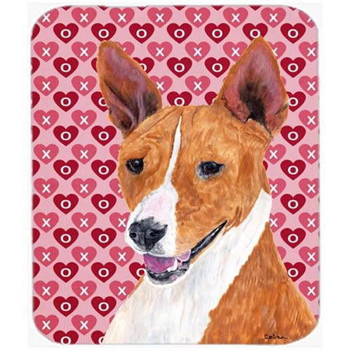 Carolines Treasures SC9252MP Basenji Hearts Love And Valentines Day Portrait Mouse Pad Hot Pad Or Trivet