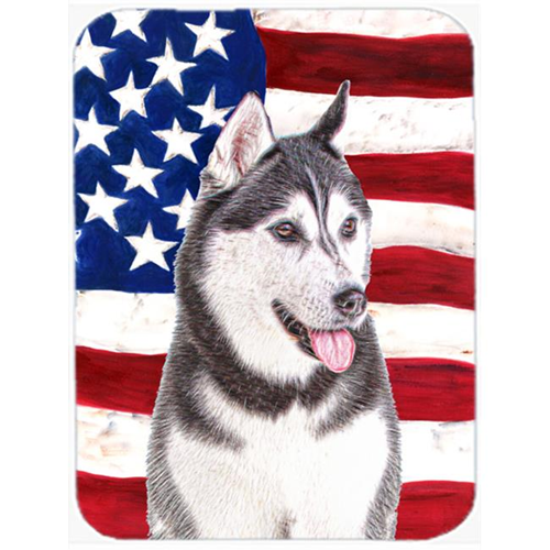 Carolines Treasures KJ1154MP USA American Flag with Alaskan Malamute Mouse Pad Hot Pad or Trivet