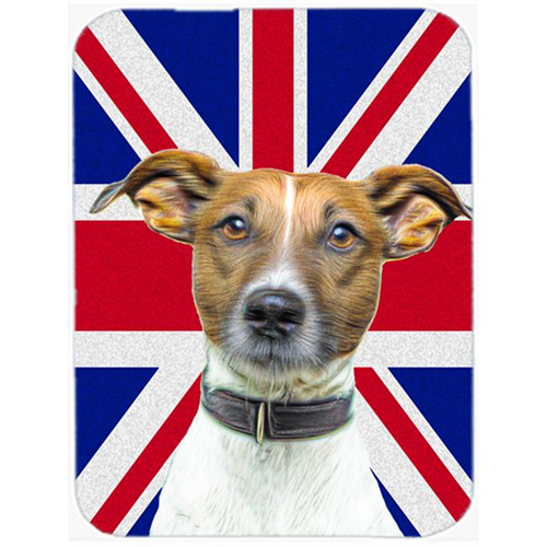 Carolines Treasures KJ1162MP Jack Russell Terrier with English Union Jack British Flag Mouse Pad Hot Pad or Trivet