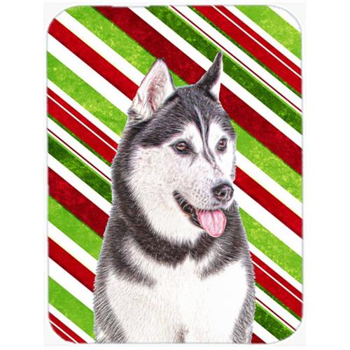 Carolines Treasures KJ1168MP Candy Cane Holiday Christmas Alaskan Malamute Mouse Pad Hot Pad or Trivet