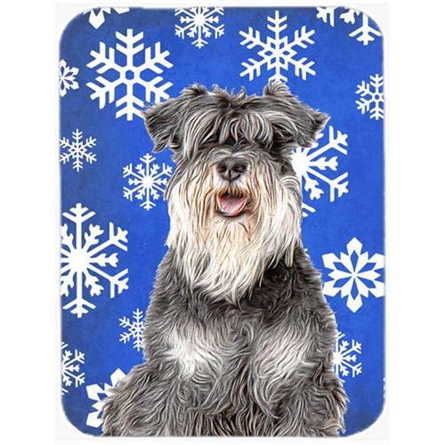 Carolines Treasures KJ1178MP Winter Snowflakes Holiday Schnauzer Mouse Pad Hot Pad or Trivet