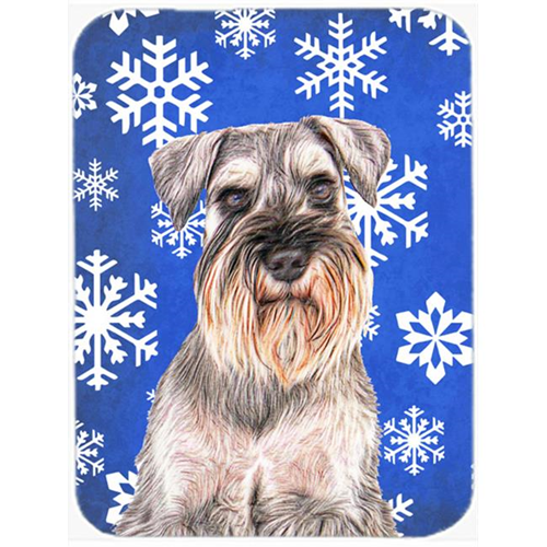 Carolines Treasures KJ1179MP Winter Snowflakes Holiday Schnauzer Mouse Pad Hot Pad or Trivet