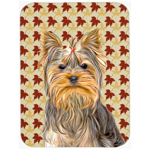 Carolines Treasures KJ1205MP Fall Leaves Yorkie & Yorkshire Terrier Mouse Pad Hot Pad or Trivet