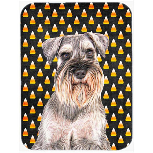 Carolines Treasures KJ1214MP Candy Corn Halloween Schnauzer Mouse Pad Hot Pad or Trivet