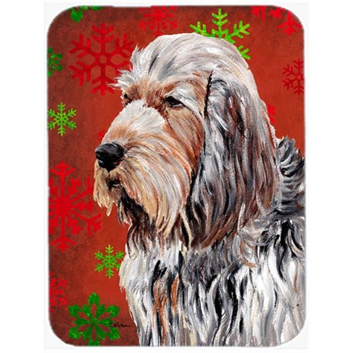 Carolines Treasures SC9756MP Otterhound Red Snowflakes Holiday Mouse Pad Hot Pad Or Trivet 7.75 x 9.25 In.