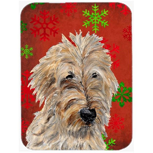 Carolines Treasures SC9763MP Golden Doodle 2 Red Snowflakes Holiday Mouse Pad Hot Pad Or Trivet 7.75 x 9.25 In.