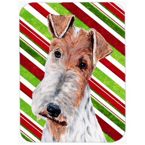Carolines Treasures SC9796MP Wire Fox Terrier Candy Cane Christmas Mouse Pad Hot Pad Or Trivet 7.75 x 9.25 In.
