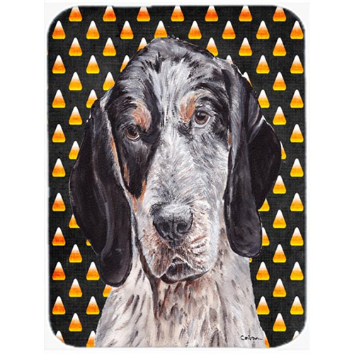 Carolines Treasures SC9649MP Blue Tick Coonhound Candy Corn Halloween Mouse Pad Hot Pad Or Trivet 7.75 x 9.25 In.