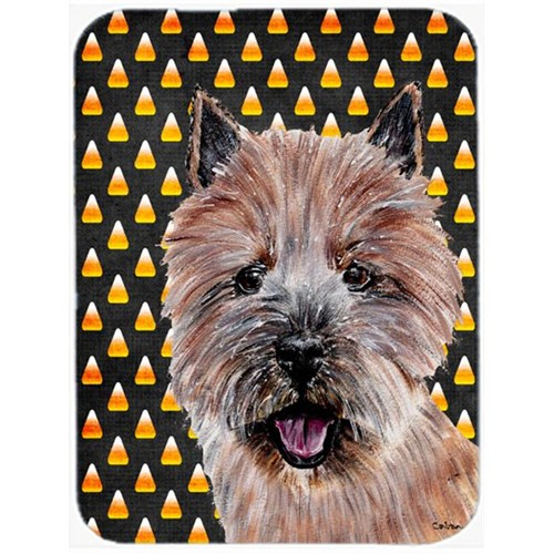 Carolines Treasures SC9662MP Norwich Terrier Candy Corn Halloween Mouse Pad Hot Pad Or Trivet 7.75 x 9.25 In.