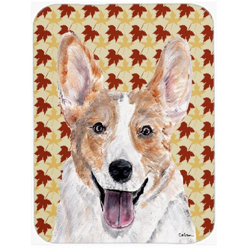 Carolines Treasures SC9672MP Cardigan Corgi Fall Leaves Mouse Pad Hot Pad Or Trivet 7.75 x 9.25 In.