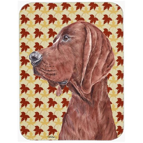 Carolines Treasures SC9683MP Redbone Coonhound Fall Leaves Mouse Pad Hot Pad Or Trivet 7.75 x 9.25 In.