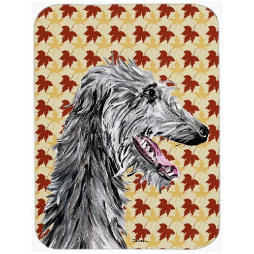 Carolines Treasures SC9693MP Scottish Deerhound Fall Leaves Mouse Pad Hot Pad Or Trivet 7.75 x 9.25 In.