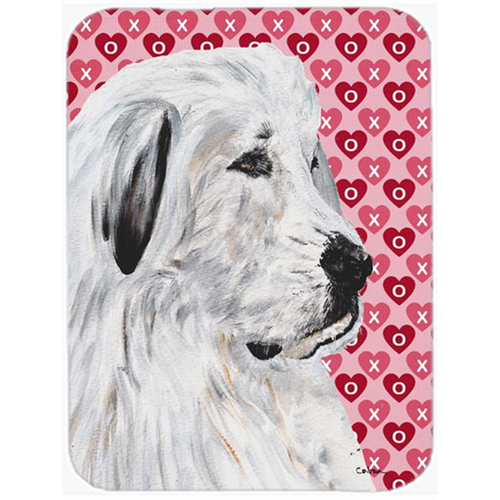 Carolines Treasures SC9714MP Great Pyrenees Hearts And Love Mouse Pad Hot Pad Or Trivet 7.75 x 9.25 In.